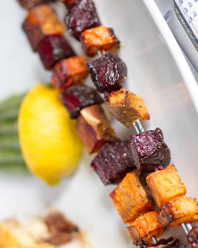 Roasted Root Vegetable Skewer