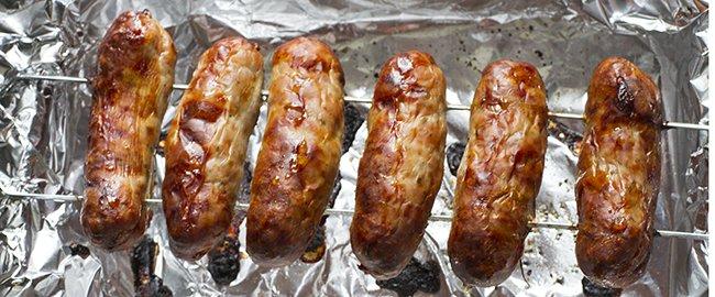 Skewered Sausages