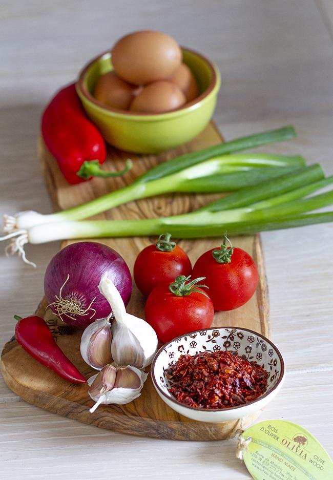 Menemen - Spicy Turkish eggs