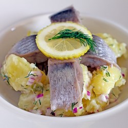 Potato Salad with Pickled Herring