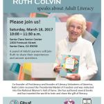 Celebrating Ruth Colvin and Adult Literacy