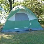 campground with a tent