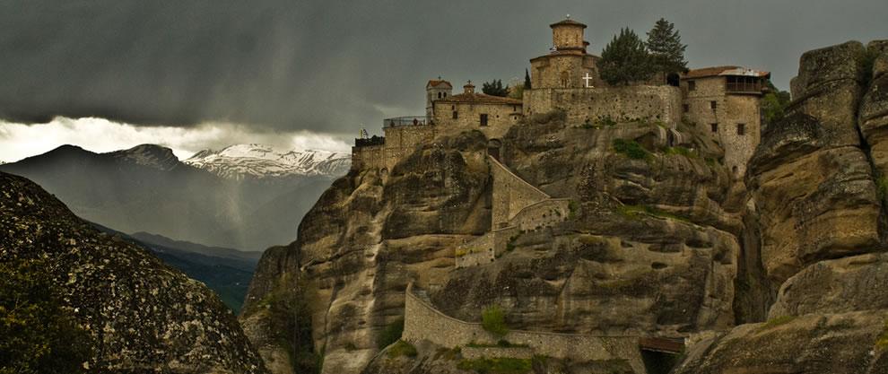 Monastery, Var lam,Greece.