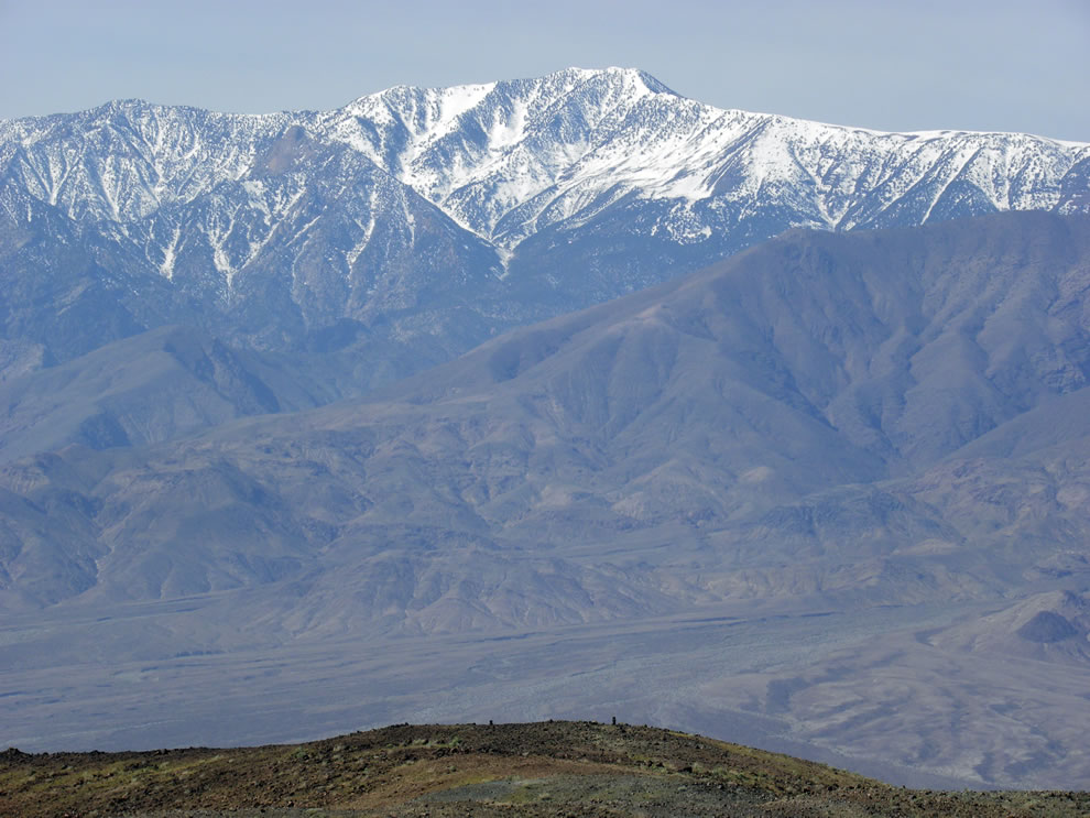 Telescope Peak in the Panamint Range, as viewed from Devil's Golfcourse in Death Valley, Death Valley National Park, California