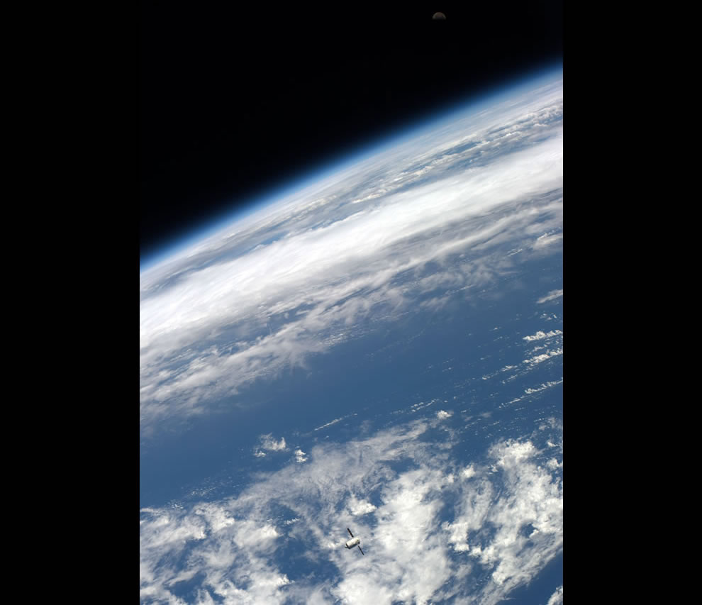 ATV at about 20 km from ISS