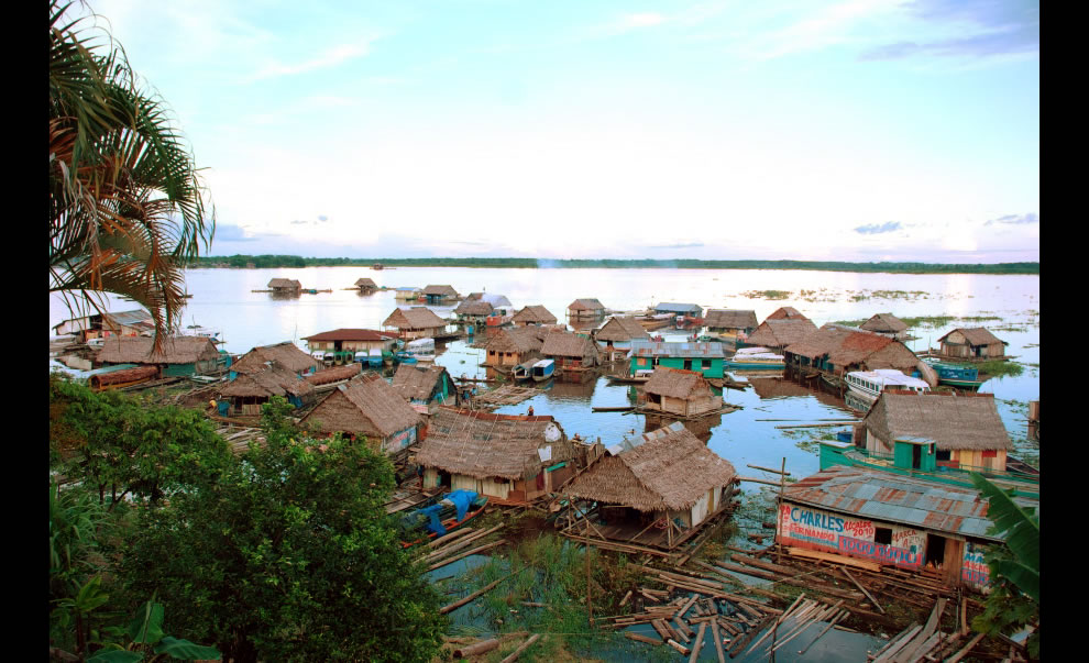 Amazonas floating village, Iquitos