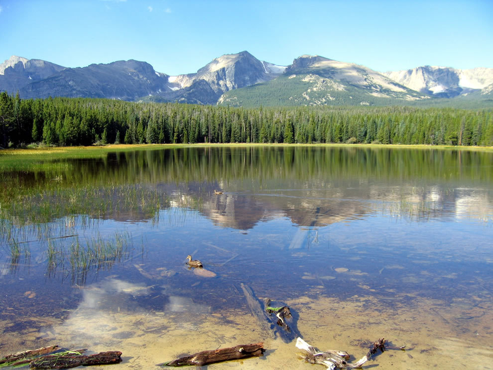 Rocky Mountain National Park view from Bierstadt Lake