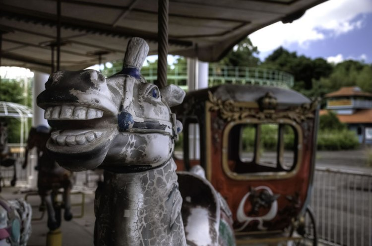 July 2010 Horse from carousel at Nara Dreamland