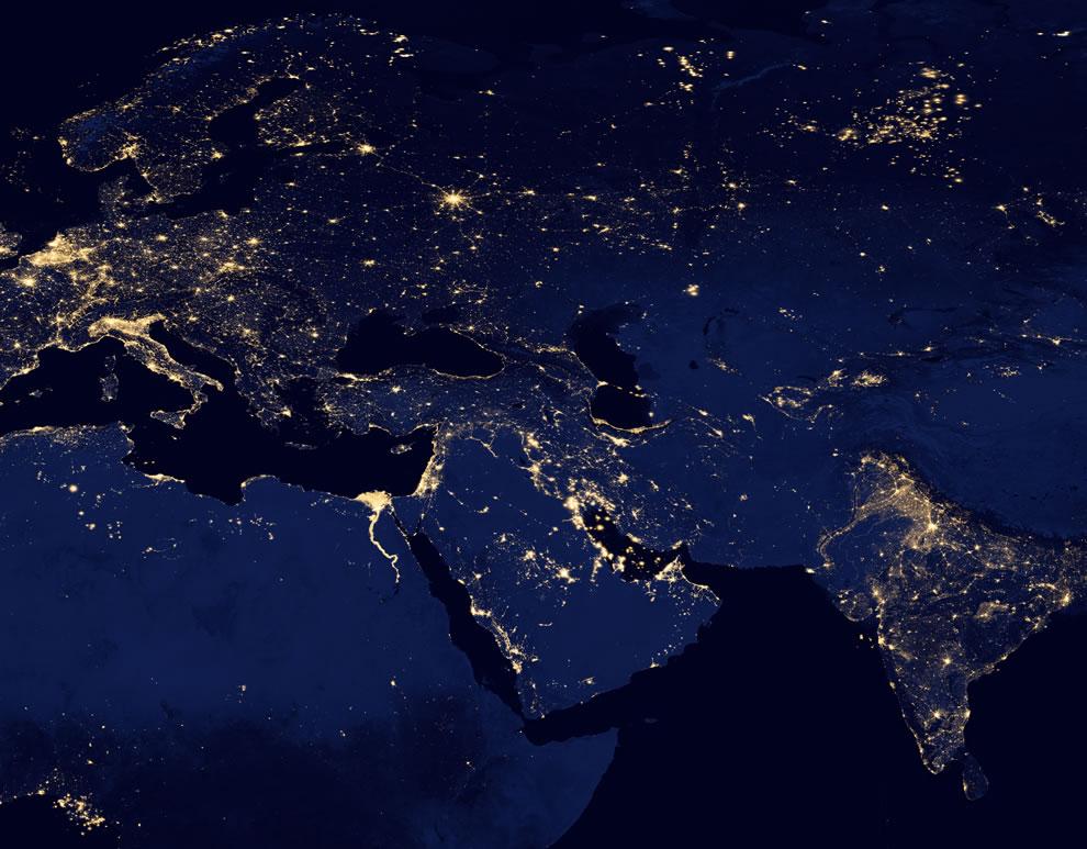 Black Marble Europe at night 2012
