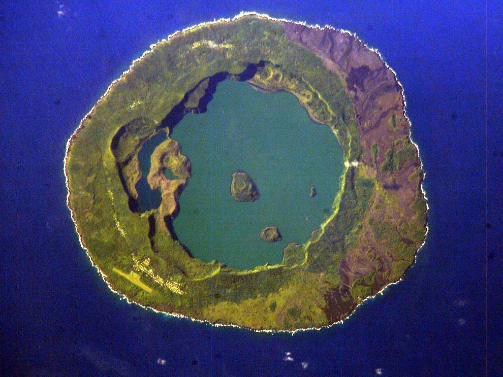 Niuafoʻou Island, Tonga, from space