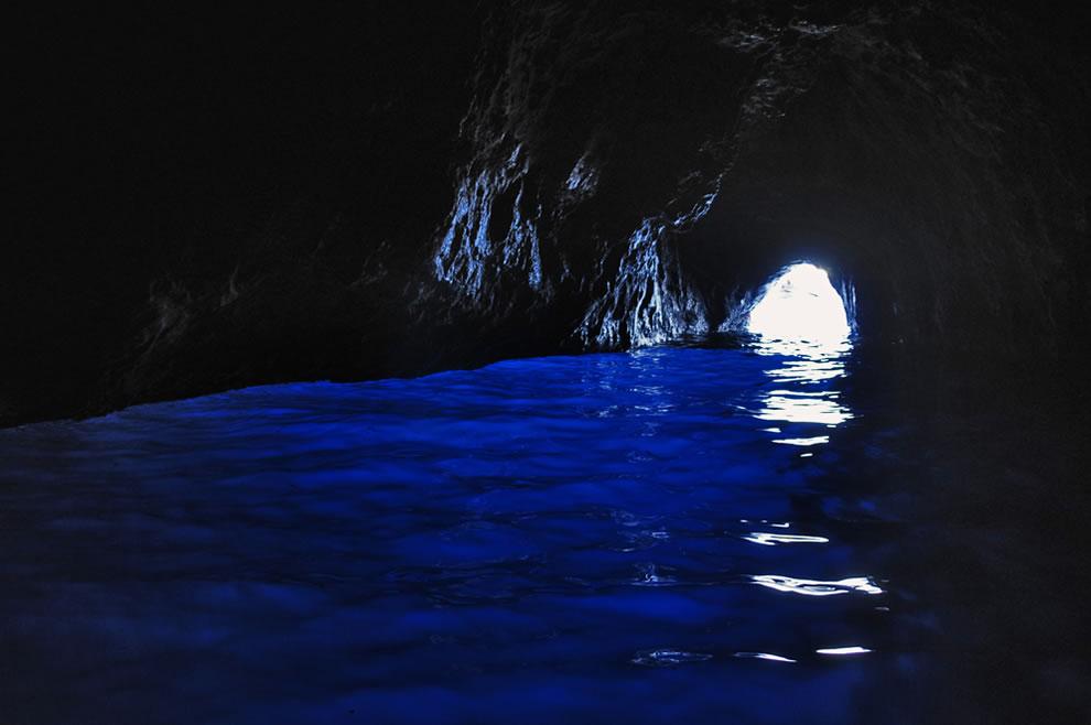 Blue waters of Grotta Azzurra