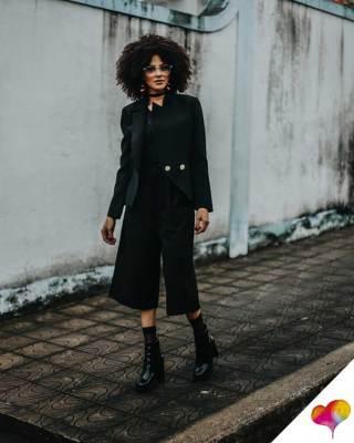 Outfit schwarze Hose