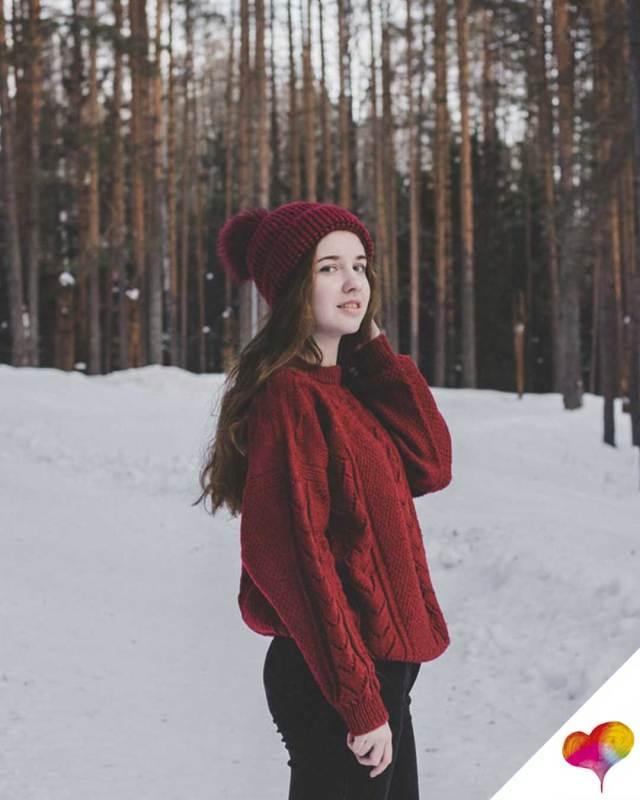 Roten Pullover kombinieren