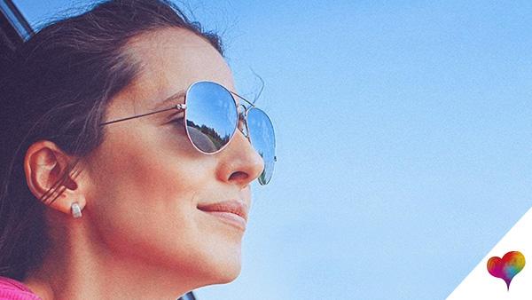 Sonnenbrille schmales Gesicht