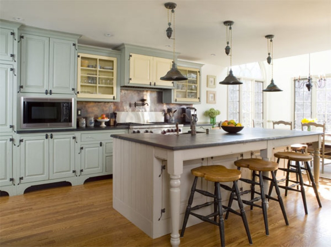 Modern Kitchen With A Vintage Flair Pictures, Photos, and ...