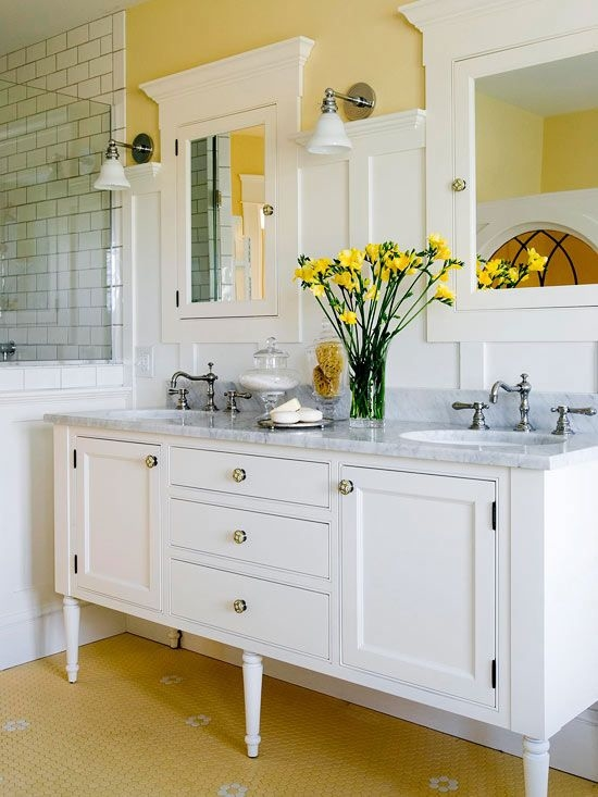 a hint of yellow bathroom decor pictures, photos, and images for