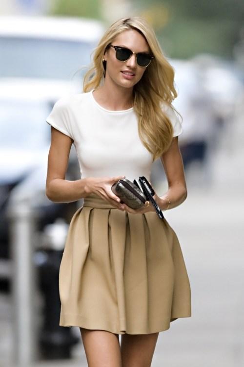 Resultado de imagem para t shirt and skirt