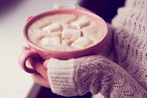 Image result for hot chocolate with marshmallows tumblr