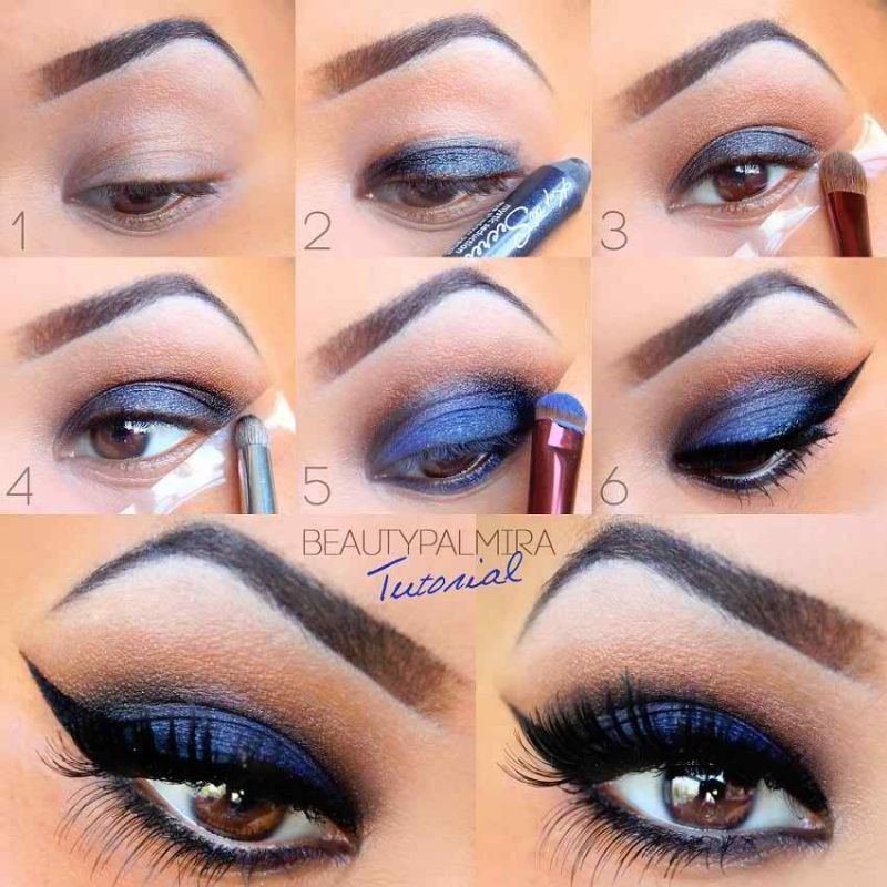 Blue Eye Makeup For Brown Eyes Pictures