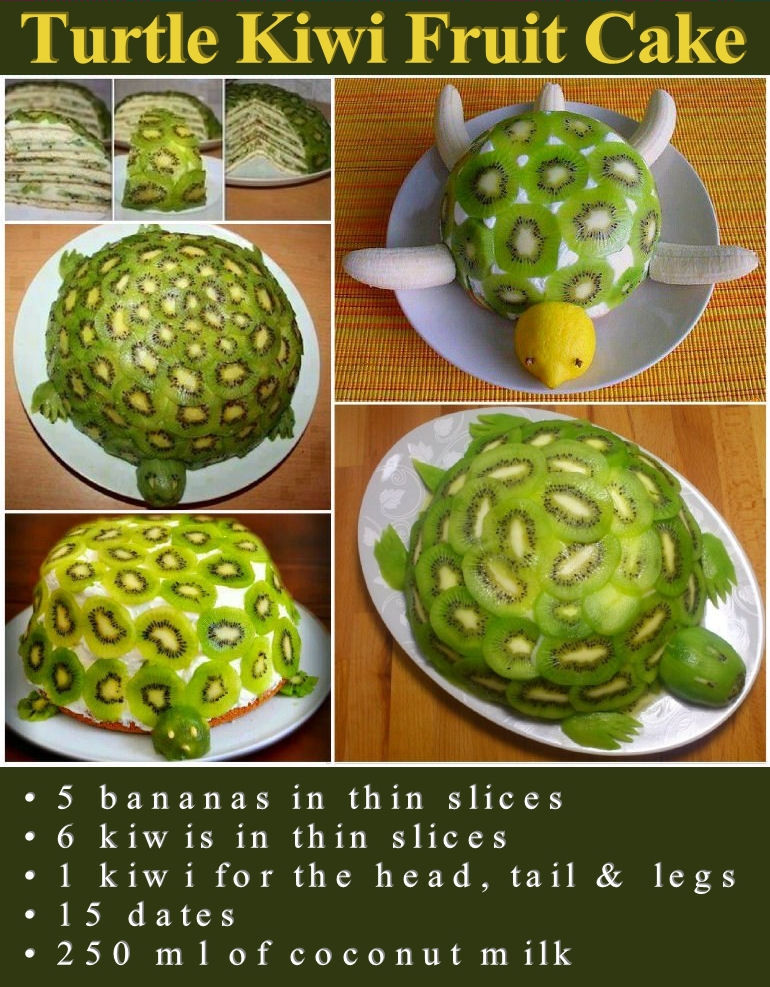 Turtle Kiwi Fruit Cake Pictures Photos And Images For