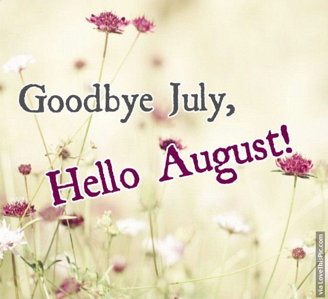 Image result for goodbye july hello august