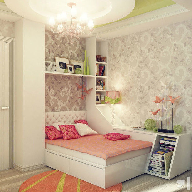 Decorating Small Teenage Girl's Bedroom Ideas Pictures ... on Girls Bedroom Ideas For Very Small Rooms  id=79718