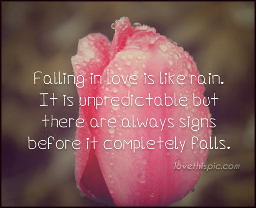Falling In Love Is Like Rain Pictures, Photos, and Images ...