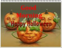 happy halloween good morning messages
