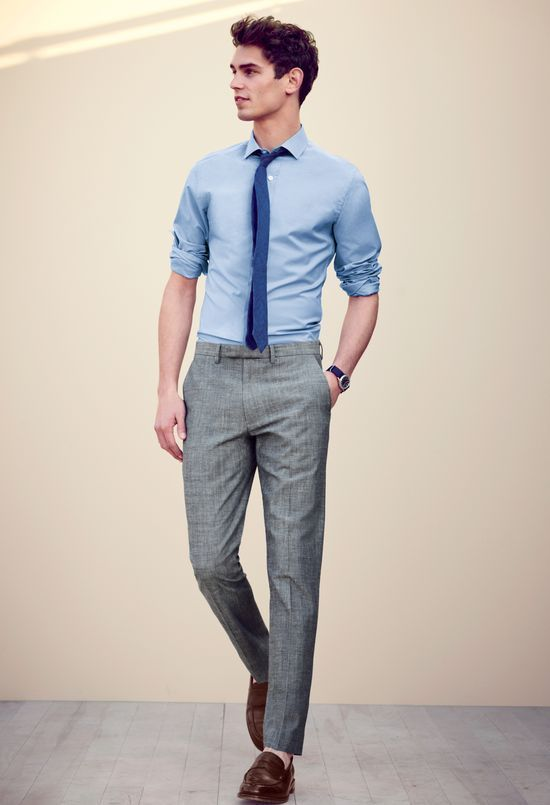 Grey Slacks With Slim Tie And Blue Shirt Pictures Photos And Images For Facebook Tumblr