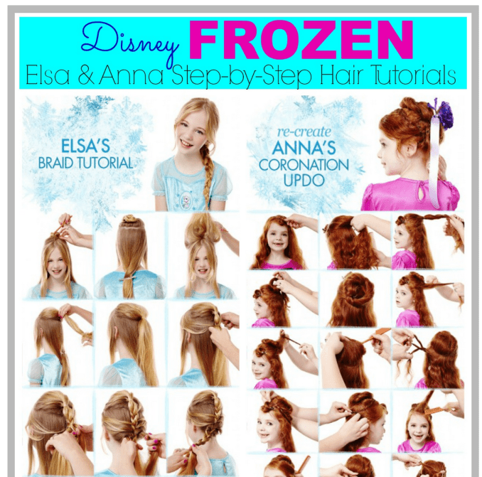 elsa and anna from frozen hair tutorial pictures, photos