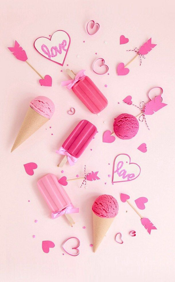 Girly Pink Ice Cream Pictures Photos And Images For