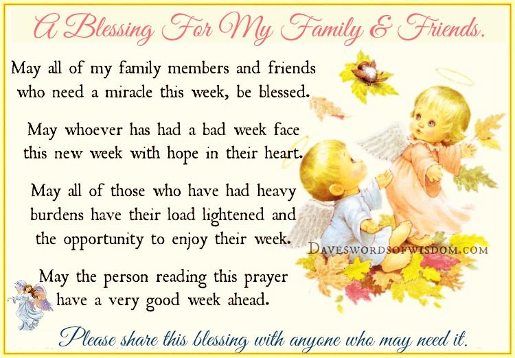 A Blessing For My Family Amp Friends Pictures Photos And