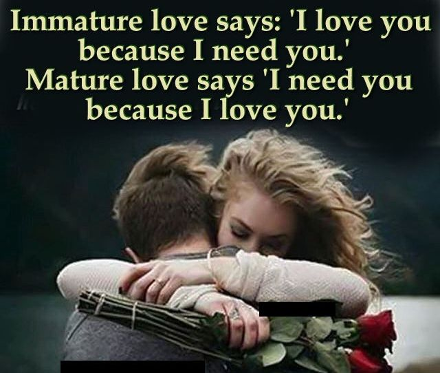 Mature Love Quote