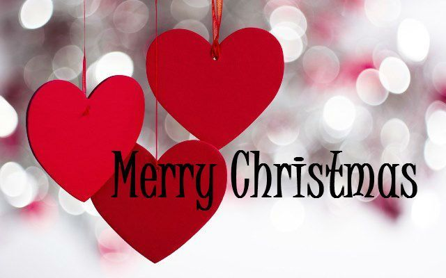 Merry Christmas Quote With Hearts Pictures Photos And