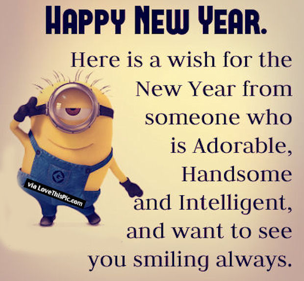 minion happy new year