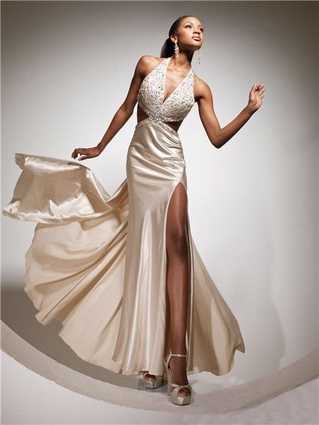 Silk Champagne Halter Dress Pictures Photos And Images For Facebook Tumblr Pinterest And