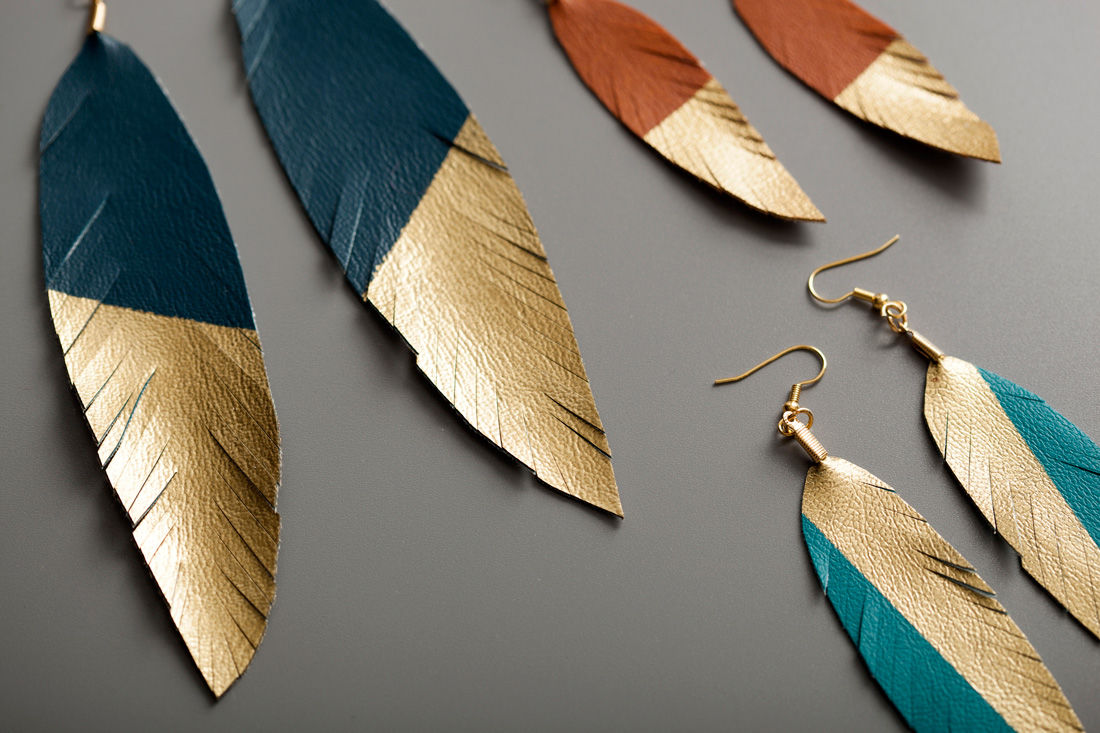 Gold Feather Earrings Pictures Photos And Images For
