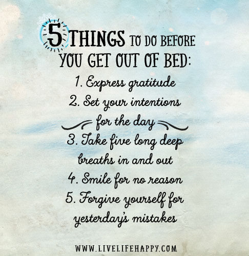 5 Things To Do Before You Get Out Of Bed Pictures, Photos ...