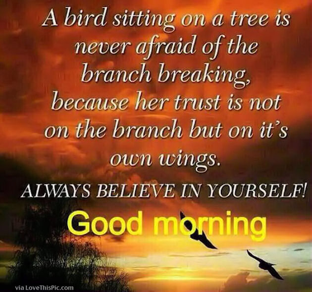 Positive Thoughts Good Morning Love