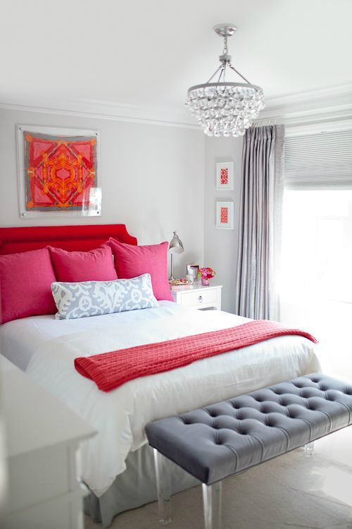 Romantic Red Pink And Gray Bedroom Color Scheme Pictures Photos And Images For Facebook