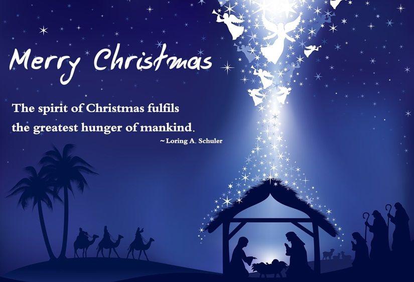 Merry Christmas The Spirit Of Christmas Fulfills The