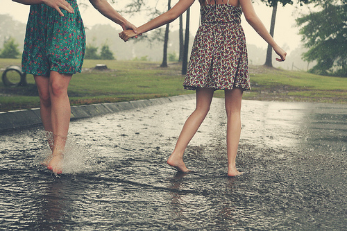 Best Friends In The Rain Pictures Photos And Images For