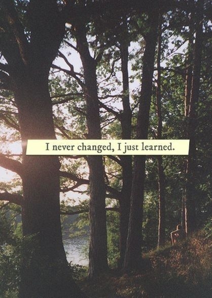Image result for I never changed, I just learned
