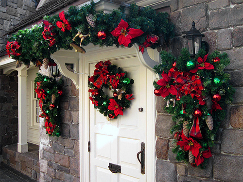 Entryway Christmas Decorations Pictures Photos And