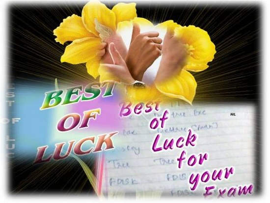 Best Of Luck On Your Exam Pictures Photos And Images For