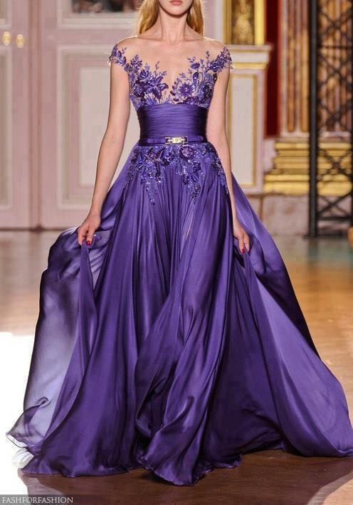Image result for purple evening dresses