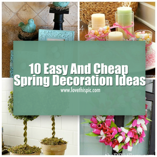 Cheap Ideas Decorating Your Home