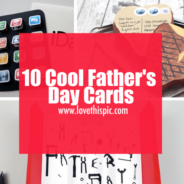 10 Cool Fathers Day Cards
