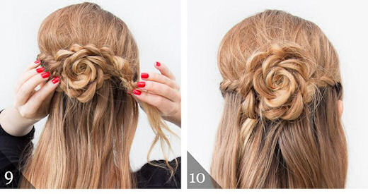 The Half Up Lace Rose Hairstyle Pictures Photos And