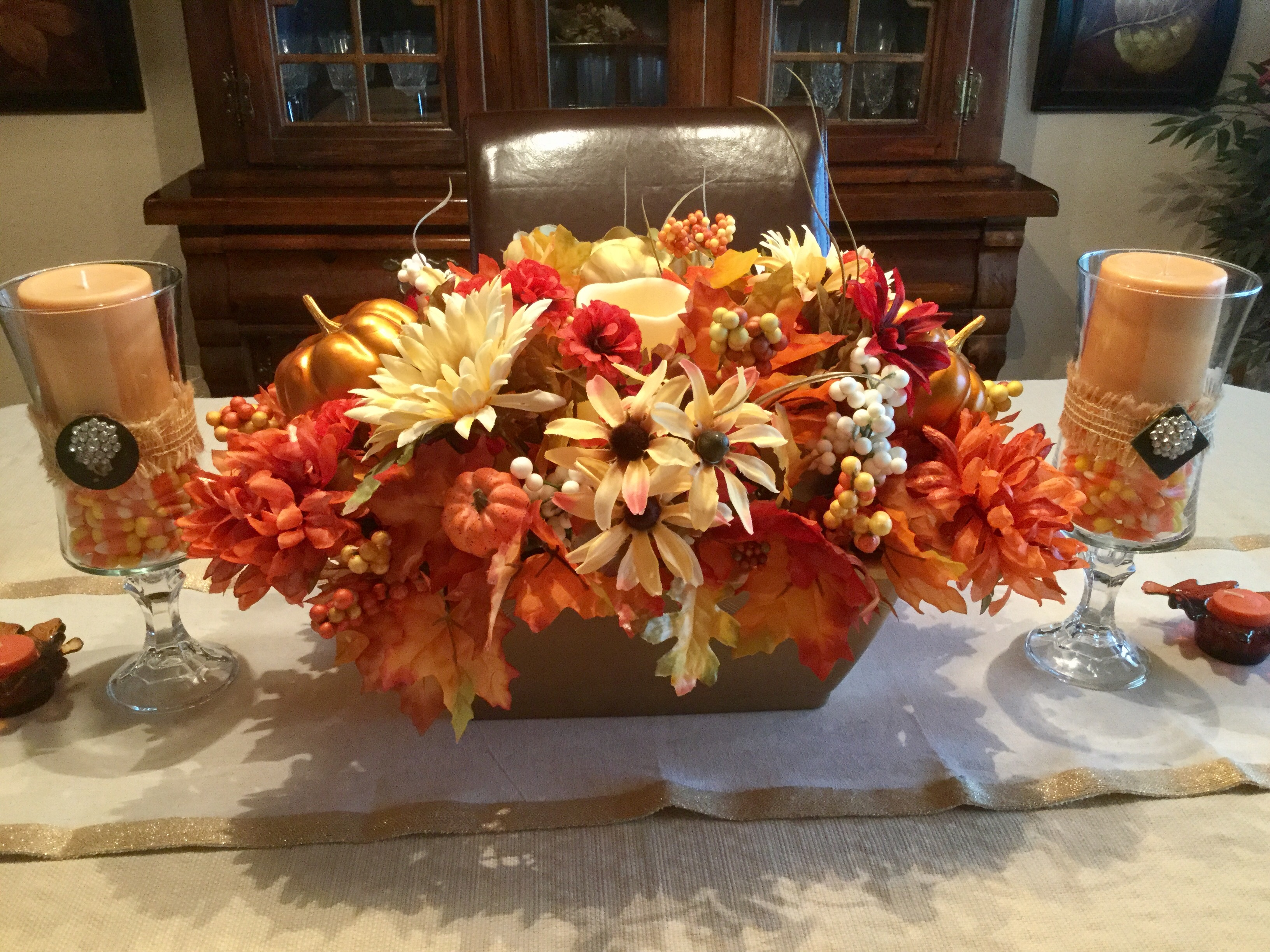 How To Make A DIY Dollar Tree Fall Centerpiece - Love To ...